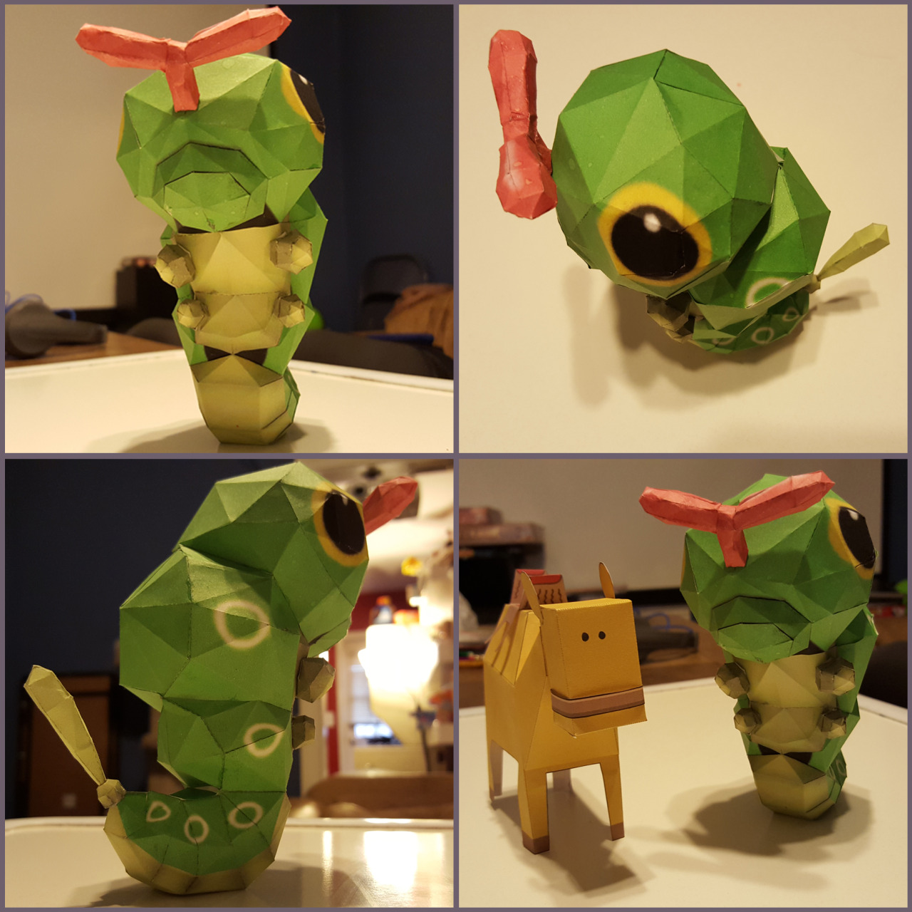 Picture of papercraft Caterpie